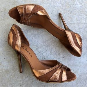 Rough Justice Metallic Bronze Johanna Heels Pumps